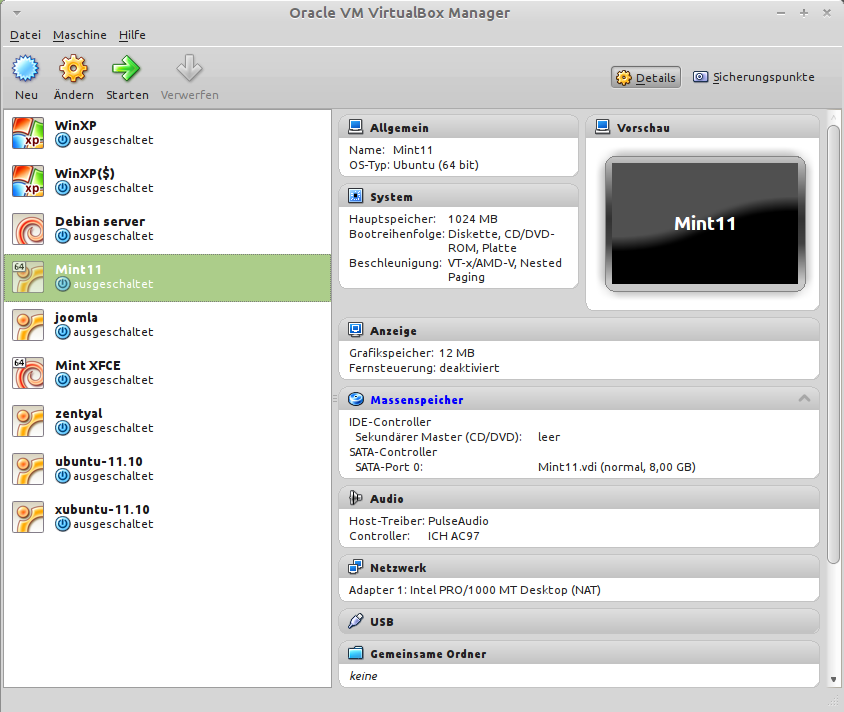 Bild VirtualBox
